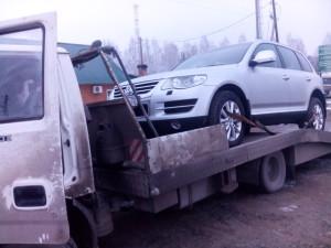 Эвакуируем Volkswagen